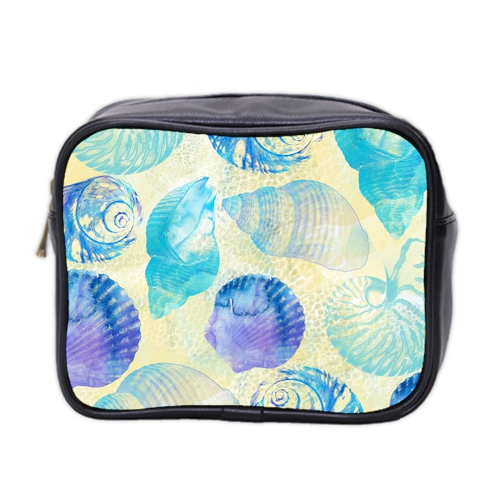 Seashells Mini Toiletries Bag 2-Side