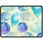 Seashells Fleece Blanket (Large)  80 x60 Blanket Front