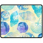 Seashells Fleece Blanket (Medium)  60 x50 Blanket Front