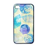 Seashells Apple iPhone 4 Case (Black) Front
