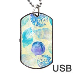 Seashells Dog Tag USB Flash (Two Sides)