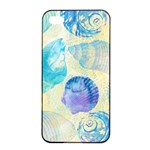 Seashells Apple iPhone 4/4s Seamless Case (Black) Front