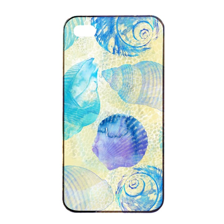Seashells Apple iPhone 4/4s Seamless Case (Black)