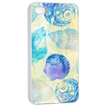 Seashells Apple iPhone 4/4s Seamless Case (White) Front