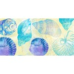 Seashells Twin Hearts 3D Greeting Card (8x4) Front