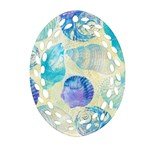 Seashells Oval Filigree Ornament (2-Side)  Front