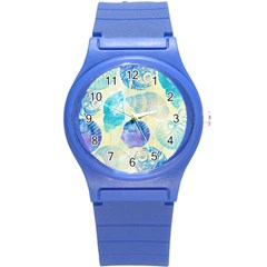 Seashells Round Plastic Sport Watch (S)