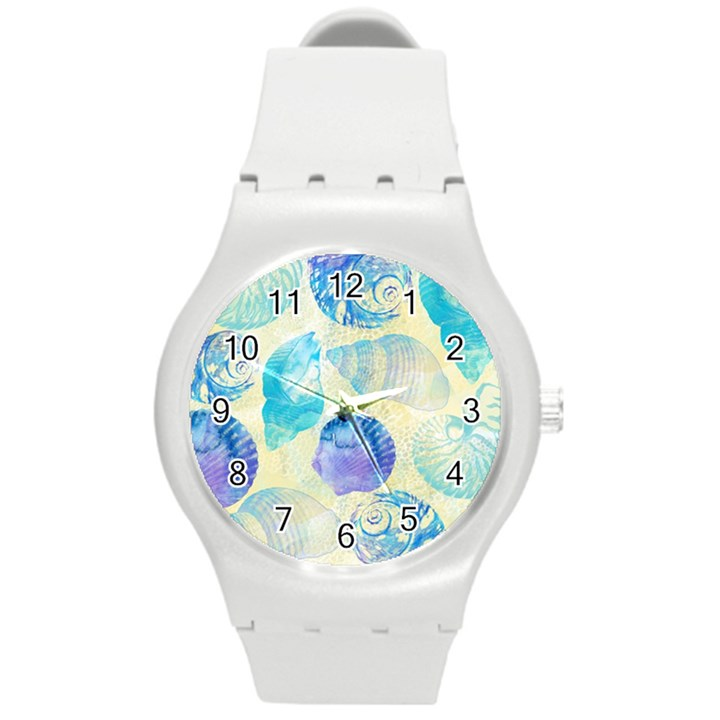 Seashells Round Plastic Sport Watch (M)