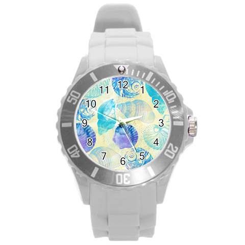 Seashells Round Plastic Sport Watch (L)
