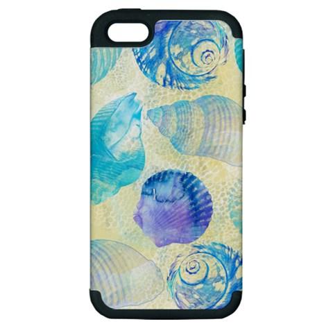 Seashells Apple iPhone 5 Hardshell Case (PC+Silicone)
