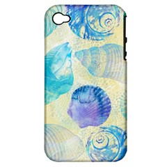 Seashells Apple iPhone 4/4S Hardshell Case (PC+Silicone)