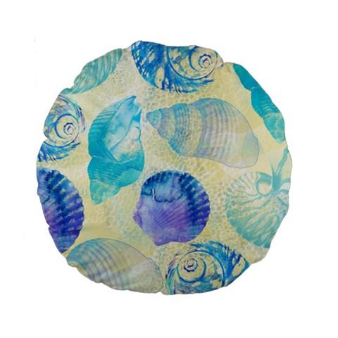 Seashells Standard 15  Premium Round Cushions