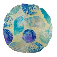 Seashells Large 18  Premium Round Cushions