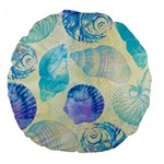 Seashells Large 18  Premium Round Cushions Back