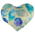 Seashells Large 19  Premium Heart Shape Cushions Back