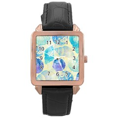 Seashells Rose Gold Leather Watch