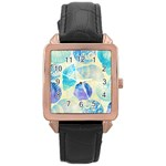Seashells Rose Gold Leather Watch  Front