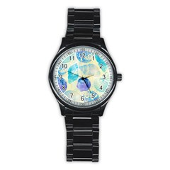 Seashells Stainless Steel Round Watch