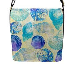 Seashells Flap Messenger Bag (L)