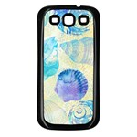 Seashells Samsung Galaxy S3 Back Case (Black) Front
