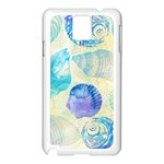 Seashells Samsung Galaxy Note 3 N9005 Case (White) Front