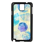 Seashells Samsung Galaxy Note 3 N9005 Case (Black) Front
