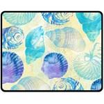 Seashells Double Sided Fleece Blanket (Medium)  60 x50 Blanket Front
