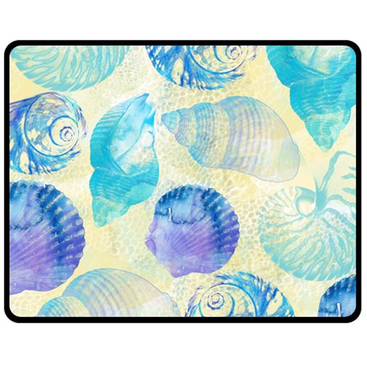 Seashells Double Sided Fleece Blanket (Medium)