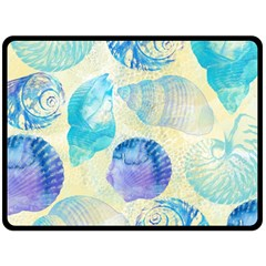 Seashells Double Sided Fleece Blanket (Large)