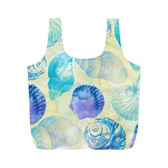 Seashells Full Print Recycle Bags (M)
