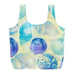 Seashells Full Print Recycle Bags (L)  Back