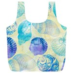 Seashells Full Print Recycle Bags (L)  Front