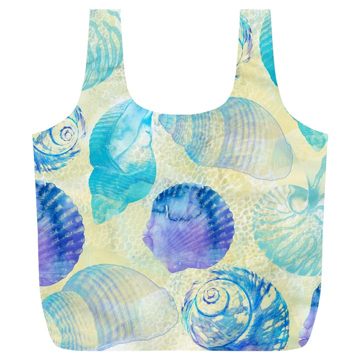 Seashells Full Print Recycle Bags (L)