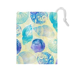 Seashells Drawstring Pouches (Large)
