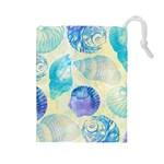 Seashells Drawstring Pouches (Large)  Front