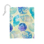 Seashells Drawstring Pouches (Large)  Back