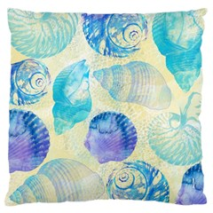 Seashells Large Flano Cushion Case (Two Sides)