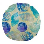 Seashells Large 18  Premium Flano Round Cushions Back