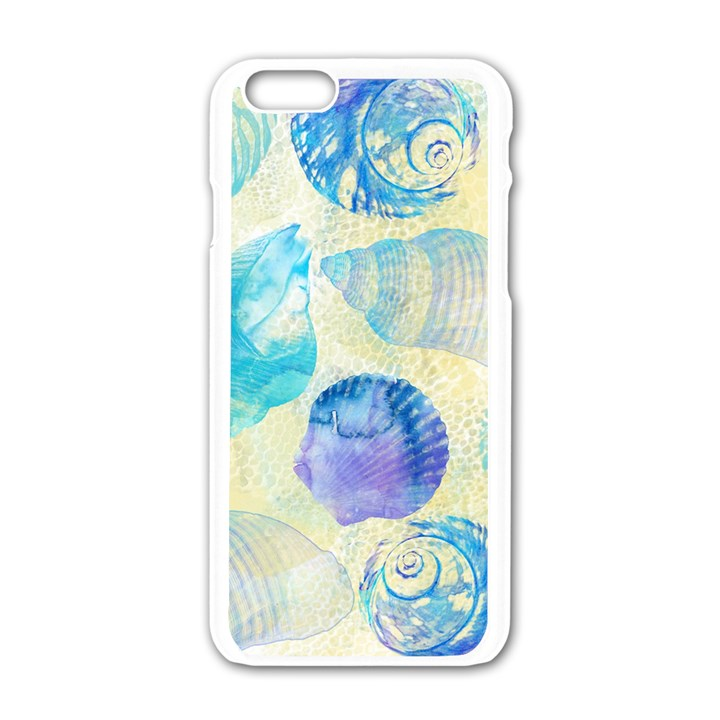 Seashells Apple iPhone 6/6S White Enamel Case