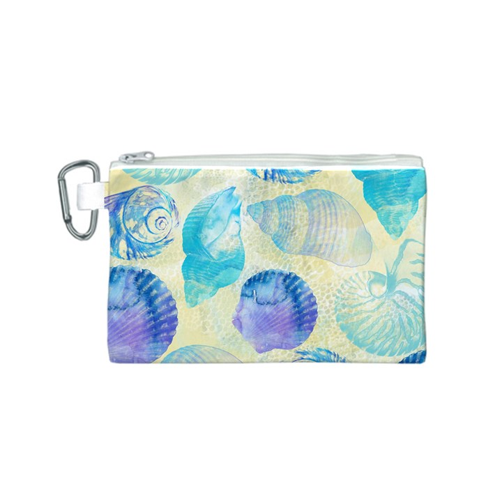 Seashells Canvas Cosmetic Bag (S)