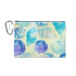 Seashells Canvas Cosmetic Bag (M) Front