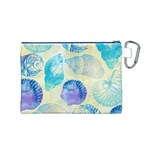 Seashells Canvas Cosmetic Bag (M) Back