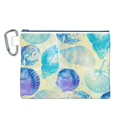 Seashells Canvas Cosmetic Bag (L)