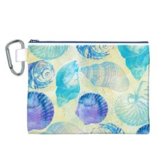 Seashells Canvas Cosmetic Bag (L)
