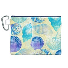 Seashells Canvas Cosmetic Bag (XL)