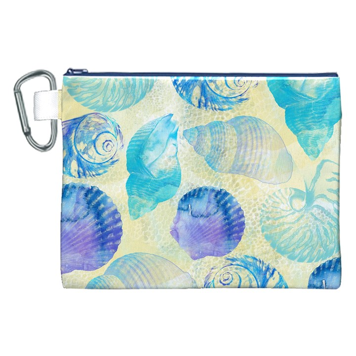 Seashells Canvas Cosmetic Bag (XXL)