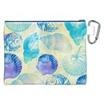 Seashells Canvas Cosmetic Bag (XXL) Back