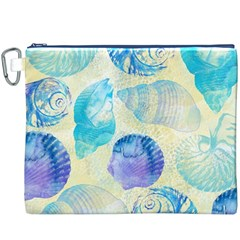 Seashells Canvas Cosmetic Bag (XXXL)