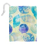 Seashells Drawstring Pouches (Extra Large) Back