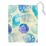 Seashells Drawstring Pouches (XXL) Front